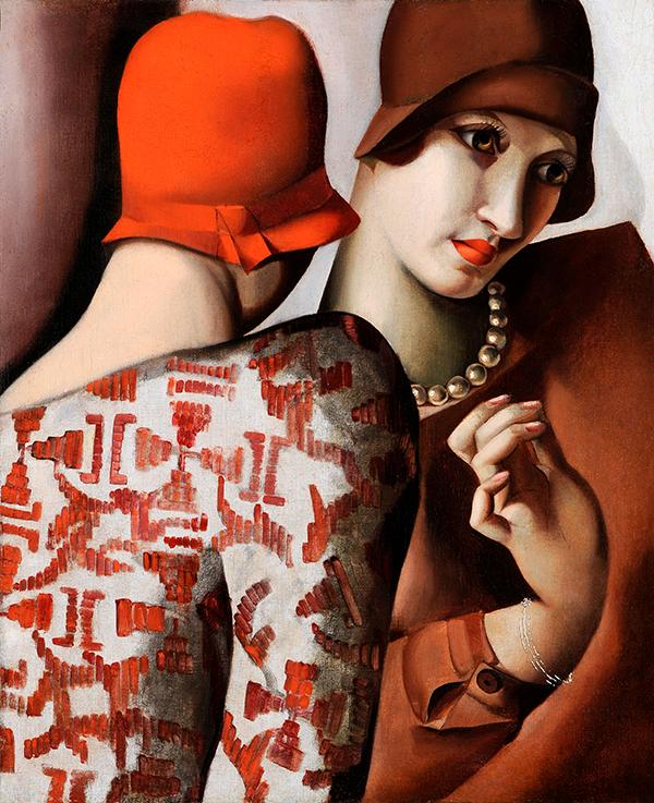 4 Los dos amigos - Confidencias, 1928, óleo sobre lienzo
